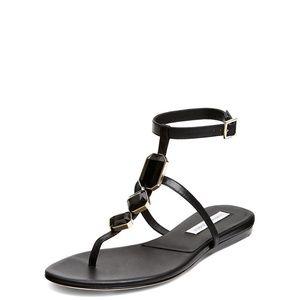 Diane Von Furstenberg Shoes - Diane von Furstenberg DVF Black 'Perugia' Sandals